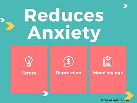 Kratom reduces stress benefit