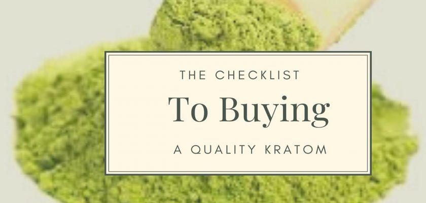 Buying A Quality Kratom
