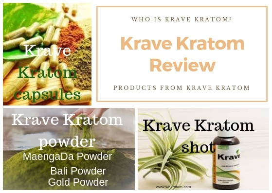 Krave Kratom Review products