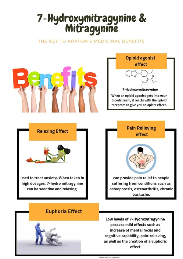 7-Hydroxymitragynine & Mitragynine BENEFITS