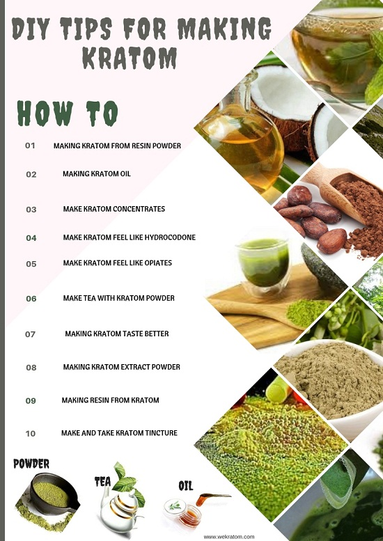 DIY TIPS FOR MAKING KRATOM