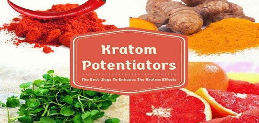 Kratom-potentiators